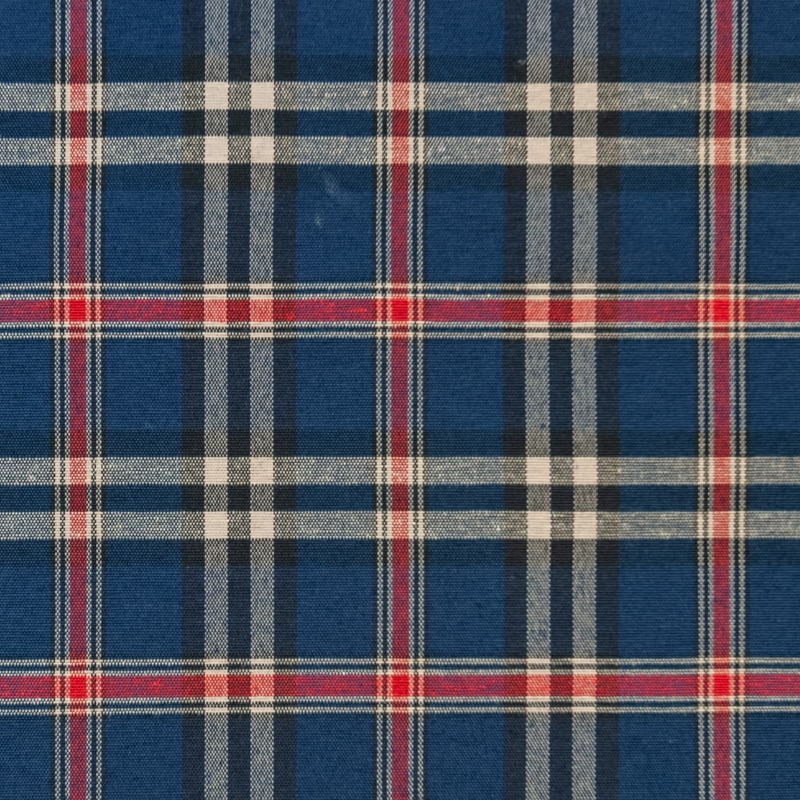 Ecosse Blue Check County Fabrics