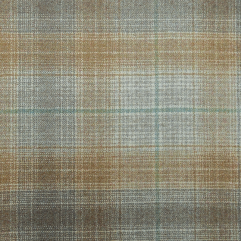 Gold /grey wool plaid